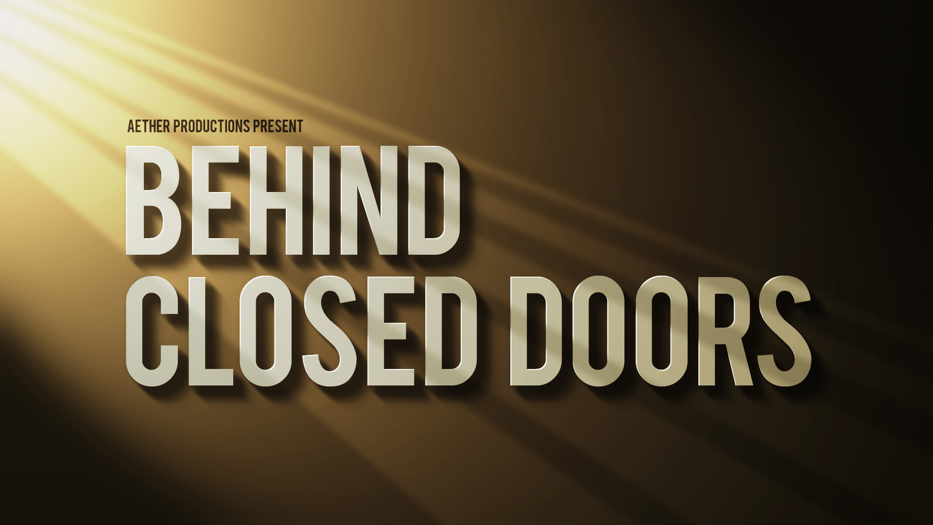 our latest short film behind closed doors the idea